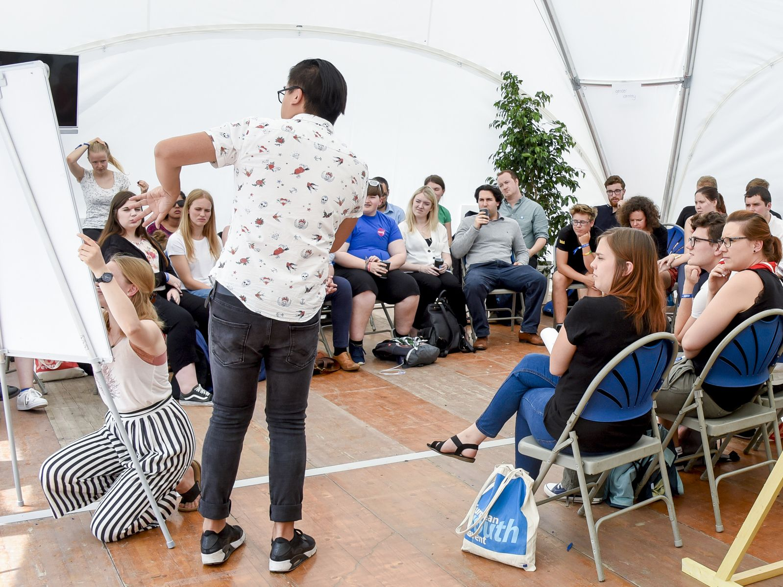 Workshop during the European Youth Event 2018, photo: European Union 2018 / Genevieve Engel