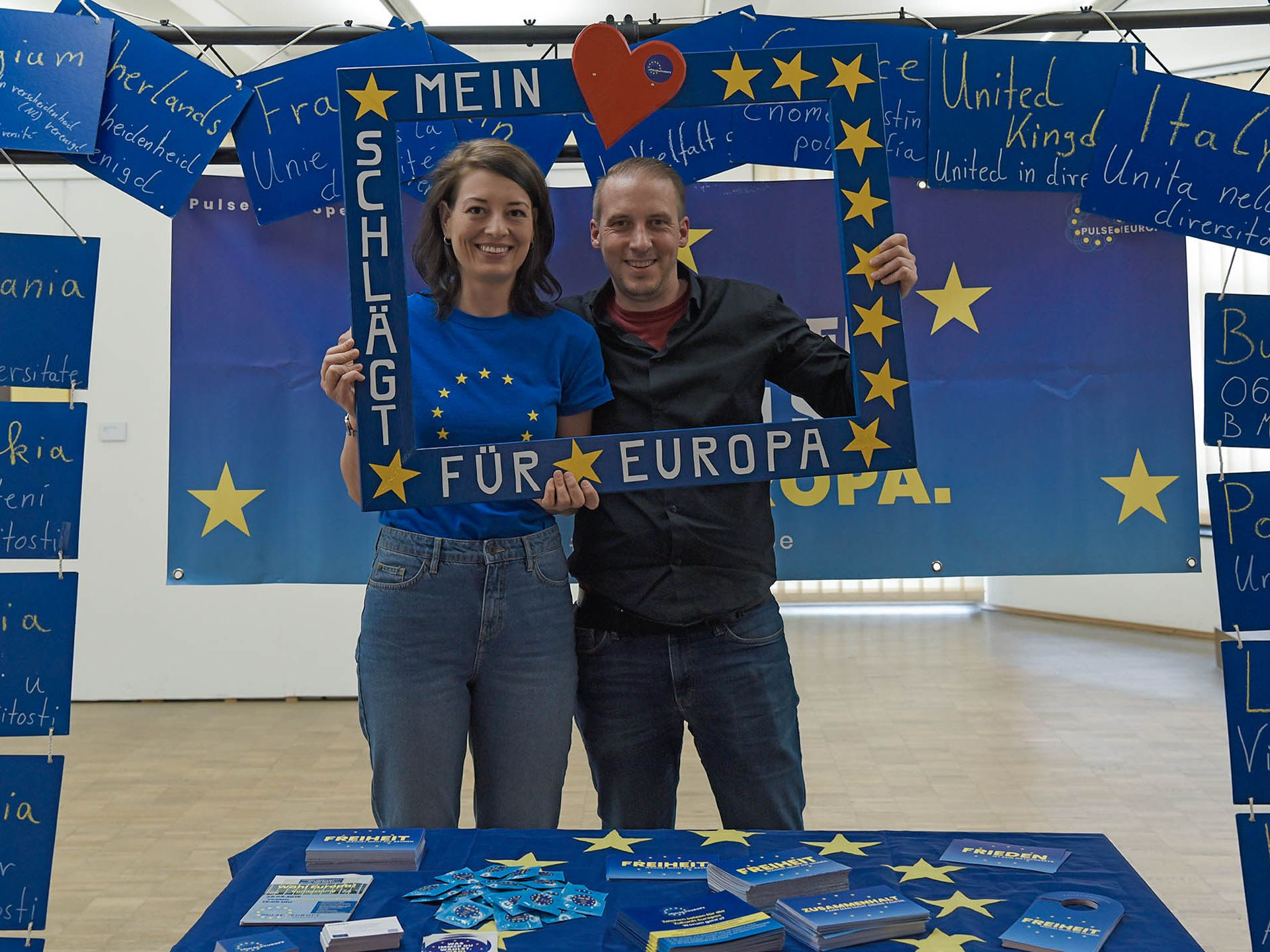 Photo campaign in Gelsenkirchen in the run-up to the European elections 2019, Photo: RVR / Petra Hartmann